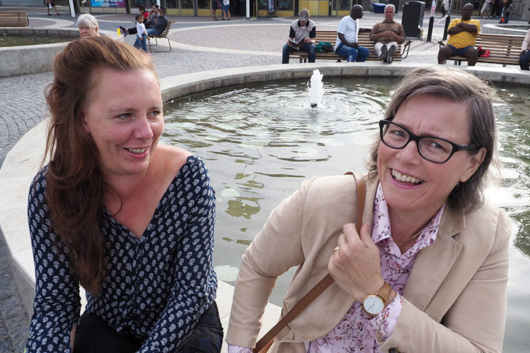 Martina Montelius och Lena Andersson. Foto Severus Severus Tenenbaum