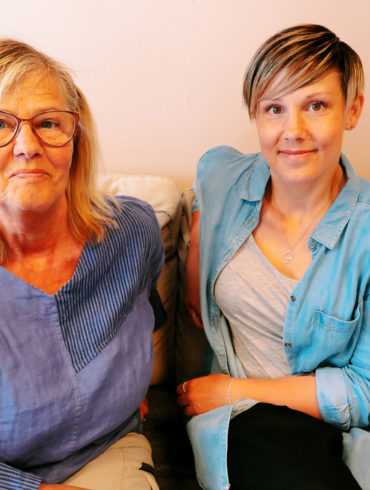 Margareta Ericson Hägg och Karolin Hansson, Kvinnojouren Maggan, foto Marja Bäckman.