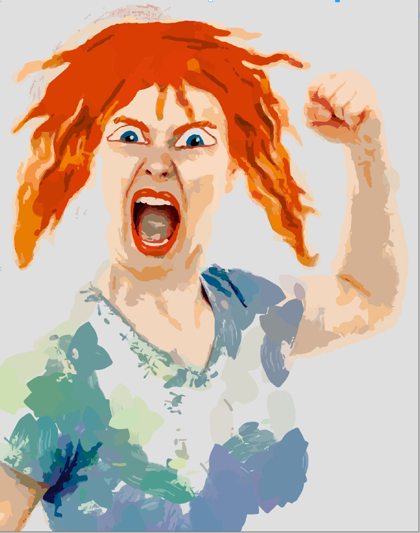 Arg kvinna, illustration Clip art