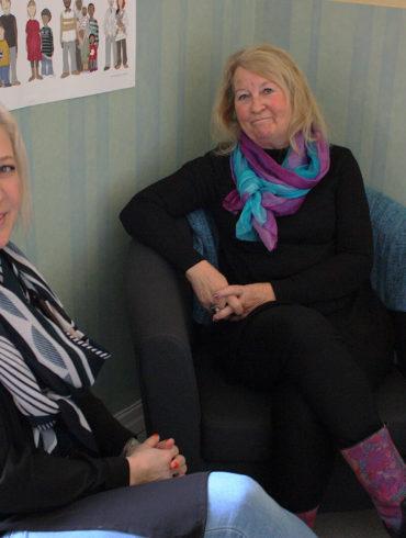 Maria Dahl Karlgren och Tina Olby, foto Marja Beckman