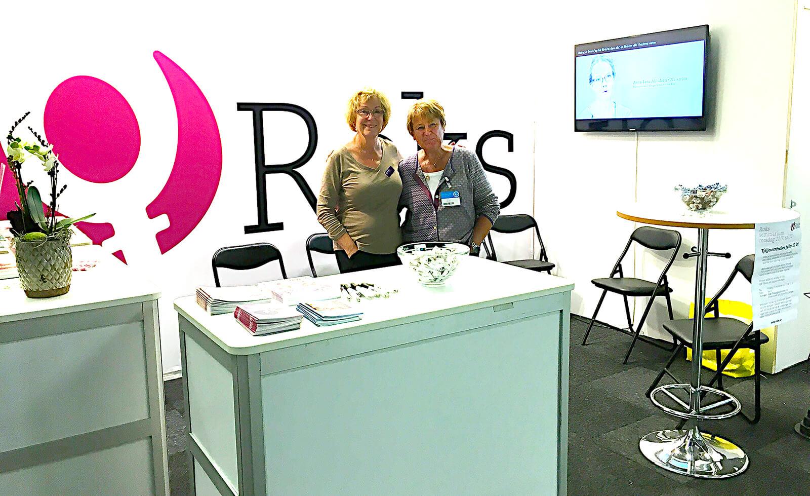 Eva Westerholm och Anna-Lena Mellquist, foto Roks.