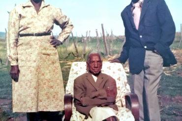 Winni Wambui Gikandi, Peter Kamwana och Norbert Gikandi, foto privat.