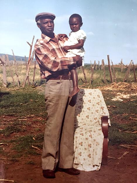 Norbert Gikandi och kusin Beatrice, foto privat.