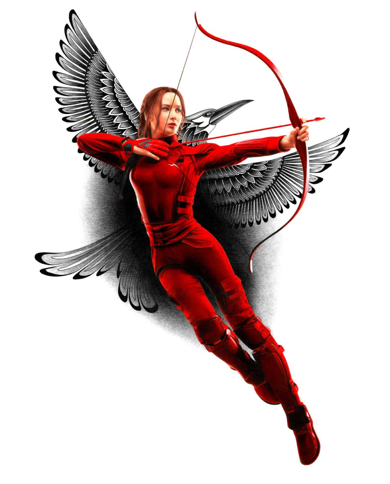 Katniss, illustration Heather Rogney ARt