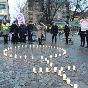 Ljusmanifestation, foto Emma Persson