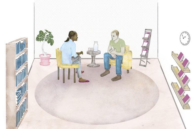 Brottsofferguiden, illustration Jenny Almén